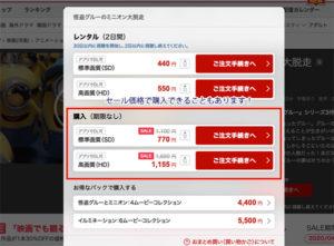 Rakuten TVの価格
