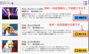 東映アニメオンデマンドの会員登録不要で無料視聴が可能