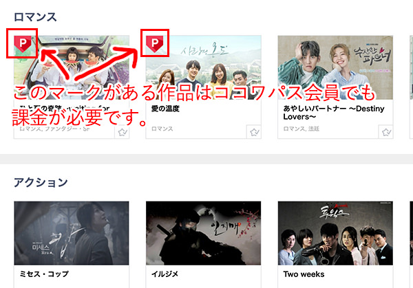 KOCOWAには見放題で視聴できない韓国ドラマもある