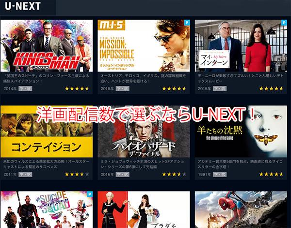 U-NEXTは動画配信本数が20万本